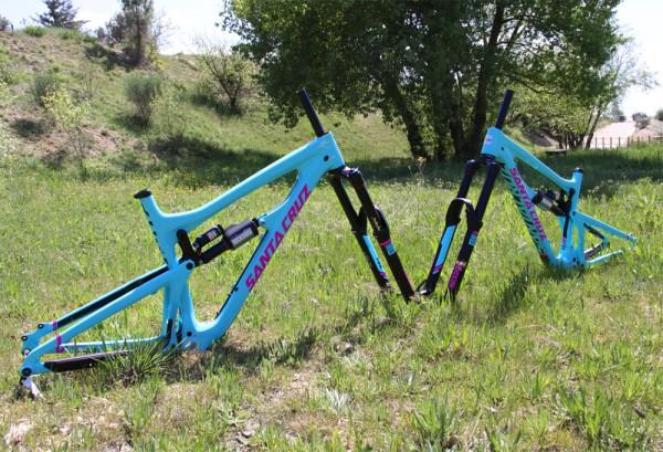 santacruz nomad 3 carbone fuschia bleu 2014 vivid pike autocollants couleurs