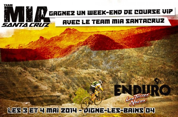 jeu concours facebook raceco team MIA santacruz alpinestars terres noires 2014