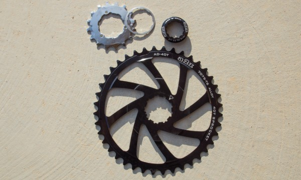 A2PAKIT42 kit conversion 40 42 dents A2Z pour cassette Shimano transmission 1x10 couronne pas cher noir