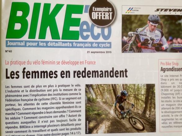 Bike eco septembre 2015 la pratique du vélo féminin se développe