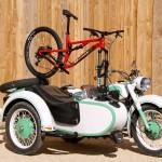 sea sucker mtb porte vélo montage sur moto side car transport vélo moto